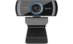 Cámara Web H.264 Full HD 1080p Webcam Live Streaming Computadora Portátil Cámara con Micrófono y para PC, Web CAM para Skype, Youtube Vídeo Radiodifusión Compatible con Windows, Mac