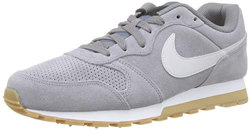 Nike Herren Md Runner 2 Suede Laufschuhe, Mehrfarbig (Gunsmokesea/Vapste Grey/Black/Gum Light Brown 002), 43 EU