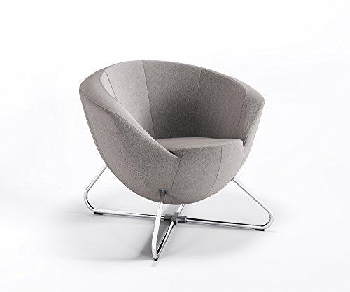 Clubsessel Designer Bar Hotel Polster Lounge hochwertige Webstruktur Sessel ONLY