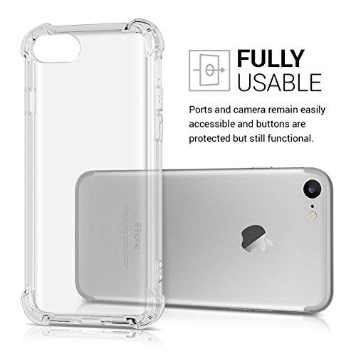 kwmobile Étui transparent pour Apple iPhone 7 / 8 étui en silicone TPU avec protection des coins - étui fin transparent pour smartphone protection cover en transparent .transparent