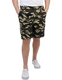 Herren Cargo Bermuda Shorts Einfarbig Gemustert Baumwolle M L XL XXL XXXL