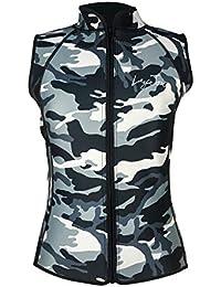LayaTone - Chaleco de neopreno para hombre y mujer, 2 mm/3 mm, sin mangas, Hombre, camouflage, xx-large