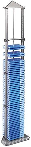 Preisvergleich Produktbild Hama DVD-Leerhüllen-Ständer (für bis zu 72 DVDs,  Höhe 145cm) silber