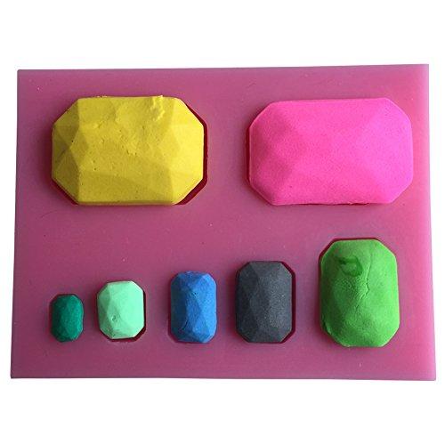 Karen Baking neue Ankunfts-Geometrie der Gem Design 3 D-Silikon-Form Chocolate Fudge Kuchen, der Werkzeuge Gem Kuchenform