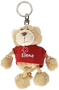NICI n15792-Llavero Oso con Camiseta Elena, Rojo
