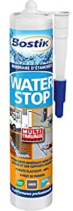 Bostik SA 466879 Waterstop Membrane d'étanchéité Cartouche de 290 ml Gris