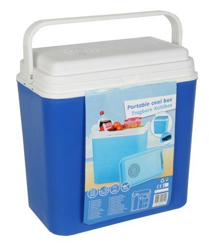 EDCO Glacière 12V, box thermique 22l, bleu, pour voiture, voyage, mer, camping