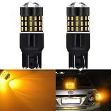 KaTur Super Bernstein 800Lumen verchromt 744074437444NA Halogenlampe 7444992301454smd LED Leuchtmittel Back up Reverse Bremse Rücklicht Lampe Bernstein DC 12V-24V 3.1W 2er Pack