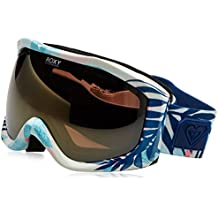 Roxy Sunset Art Series–Gafas de snowboard (Talla única), color blanco