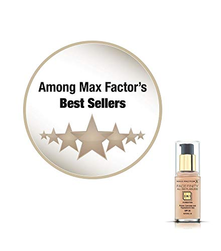Max Factor - Facefinity All Day Flawless 3in1 - Fondotinta Liquido a Lunga Durata - 050 Natural -30 ml