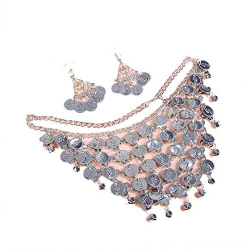 Kostüm Ägyptische Bauchtänzerinnen - Beito 1 Set Frauen-Feiertags-Party Kostüm Zubehör Bauchtanz Schmuck-Set Halsketten-Ohrringe