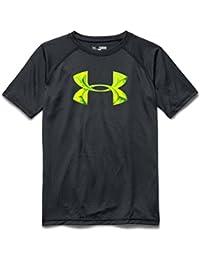 Under Armour Tech de los niños Big Logo camiseta - 1228803-064, Large, Antracita
