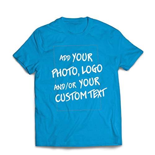 hirt Individuelles personalisiertes Geschenk, Firmenlogo, eigenes Design oder Foto hinzufügen (X-Large Blau Mehrfarben) ()