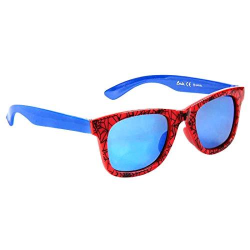 Marvel Jungensonnenbrille Premium Spiderman 3+ Jahre | Glas blaue Farbe und 100% UV400-Schutz | Leichtes Material