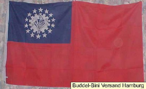 Flagge Fahne ca. 90x150 cm : Myanmar Birma Burma Nationalflagge Nationalfahne (Burma Nationalflagge)