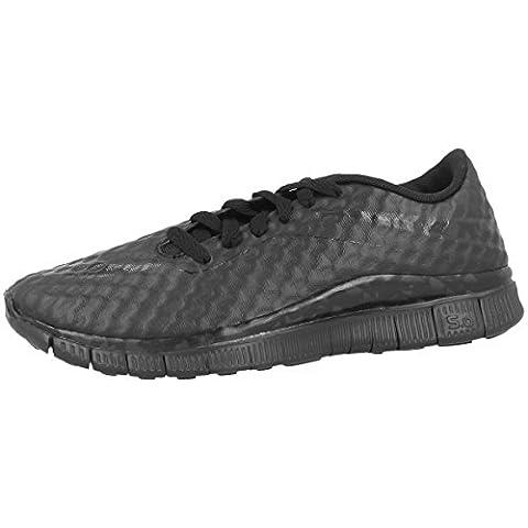 Nike Laufschuhe Free Hypervenom (GS) Unisex black-anthracite-total orange (705390-003), 37,5,