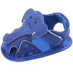 Tefamote Sandalias Zapatos de Suela Blanda Cuna Para Bebé Recién Nacido Niño niña (11, Azul)