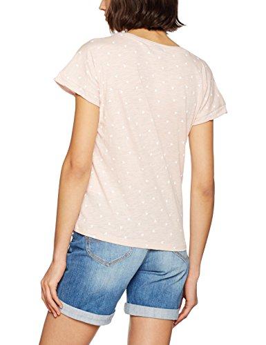 VERO MODA Damen T-Shirt Vmvalentine Ss Top Box Jrs Rosa (Peach Whip Print:Follow Your Heart)