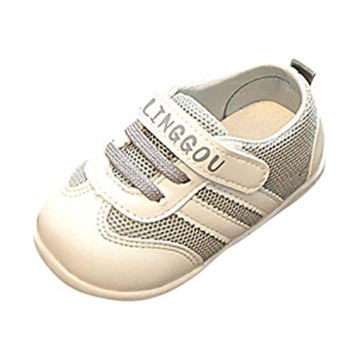 2018 Sommer Neue Sneakers Kleinkind Kinder,ABSOAR Baby Mädchen Jungen Briefe Gedruckt Mesh Laufschuhe Flache Freizeitschuhe Mode Sportschuhe Einzelne Schuhe (1-1.5 Jahr, Grau)