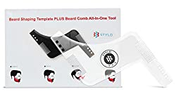 Stylo Super Beard shaper Transparent - Hair and beard guide for Mens grooming kit - Plastic beard shaping stencil - Beard shaping and grooming template
