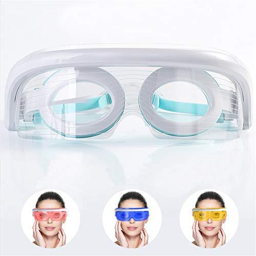 Augenmassagegerät für den Schlaf Elektrische Augenmaske Visueller Augenschutz mit stabiler Wärmekompression Vibrationsmassage für dunkle Kreise, Ermüdung der Augen, trockenes Auge