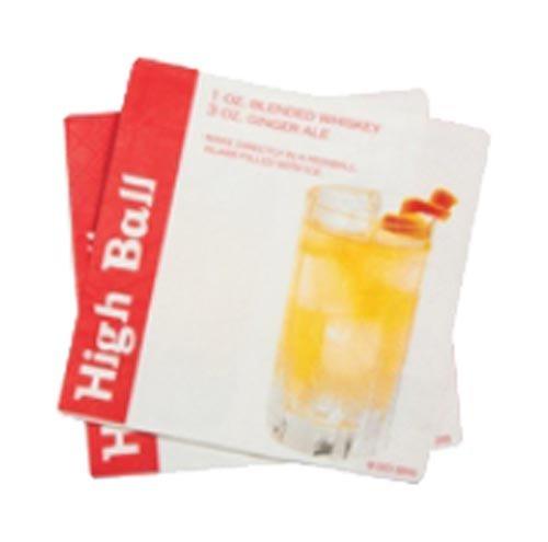 DCI Cocktailservietten mit High Ball Drink Recipe, 20 Stück -