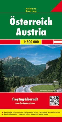 Österreich, Autokarte 1:500.000: Wegenkaart 1:500 000 (freytag & berndt Auto + Freizeitkarten)