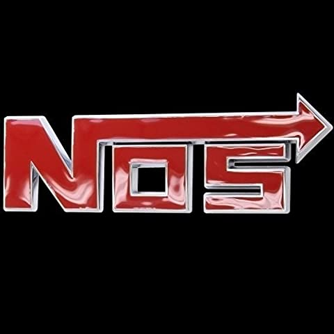 Red Nos Emblem Auto Car Accessories By Chrome 3d Badge 3m Adhesive