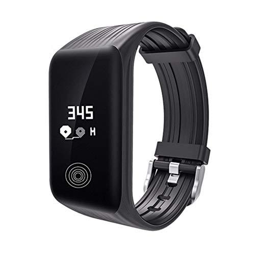 Preisvergleich Produktbild Huihuiya Smart Armband Bluetooth Smart Watch Wasserdichte K1 Herzfrequenz-Armbanduhr-Schwarz