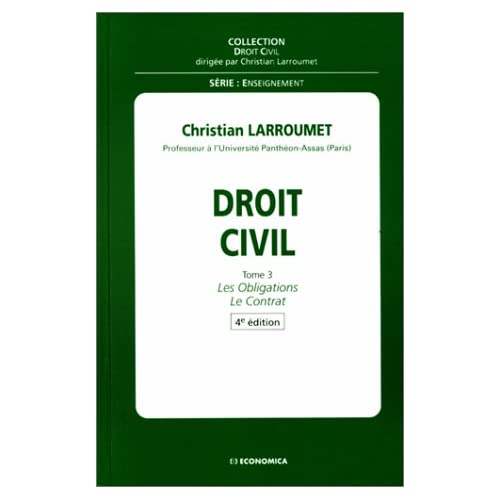Droit civil tome III Les obligations