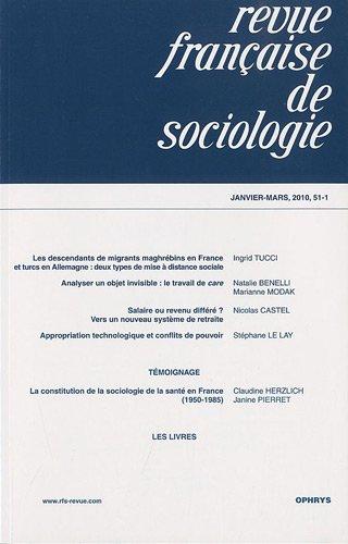 Revue franaise de sociologie, N 51-1, Janvier-mar :