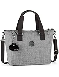 Kipling Amiel, Women's Cross-Body Bag, Grey (Cotton Grey), 15x24x45 cm (W x H x L)