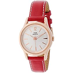 THINKPOSITIVE, Womens watch, Model SE W 130 R Big Milano Rosè, Imitation leather strap, Unisex, Color red