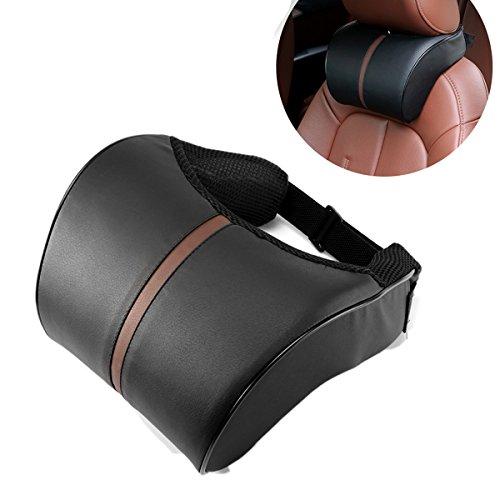 Kopfstütze kissen, ABEDOE Nackenkissen für Auto PU Leder Pad Atmungsaktive Stuhl Kissen mit Memory Foam Design für Hals Schmerzlinderung