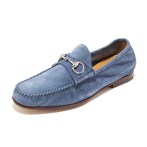 4279L mocassini blu chiaro uomo GUCCI morsetto metallo scarpe loafers shoes men [6]