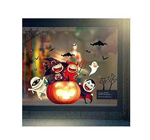 lder Kürbis Lichter Happy Halloween Wandaufkleber Schlafzimmer Wohnzimmer Fenster Glastüren Und Fenster Hintergrund Dekoration Abnehmbare 106 * 76 Cm ()