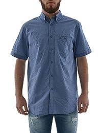 chemise manches courtes lee cooper 005403 derby bleu