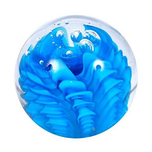 Figur body-sphère moyen de vagues bleu