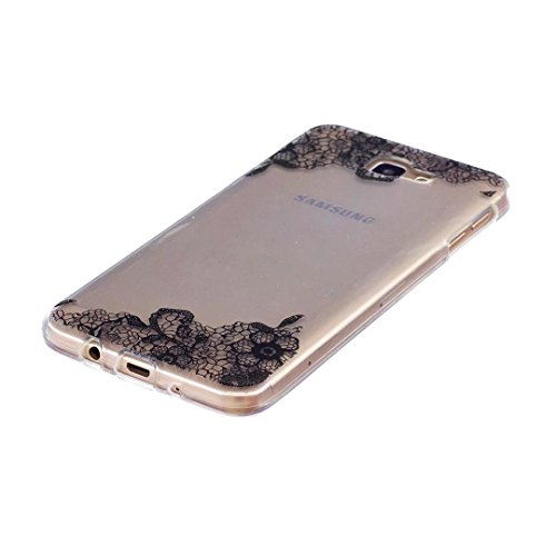 Cover iPhone 6 PLUS Silicone ultra trasparente sottile TPU morbido Custodia Modello di arte cover-panda fiore del merletto