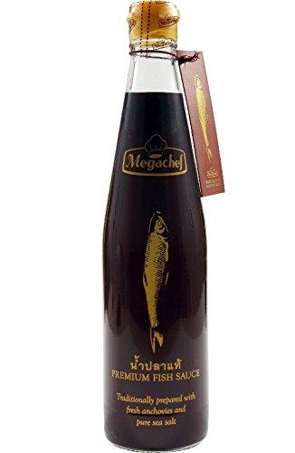 Megachef 500ml PREMIUM Fischsauce [ glutenfrei ] und ohne Glutamat - Fisch Sauce