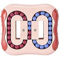 Intelligence Fingertip Cube Jouet éducatif Magic Bean Rotatif pour enfants et adultes Plastique Toy (Rouge)