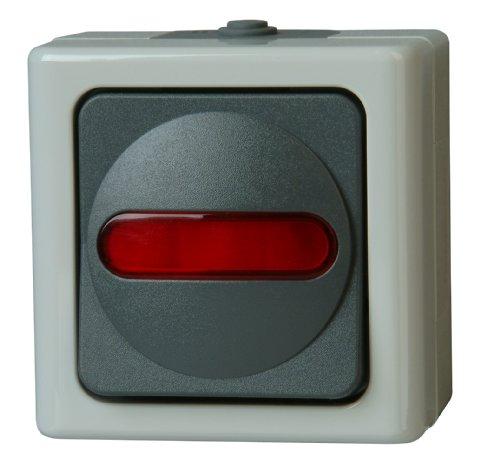Kopp 561656007 Blue Electric Kontrollschalter (Aus- und Wechsel) beleuchtet