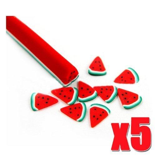 Lot de 5pcs pastèque de bâtons de bricolage fruit slice décoration CODE: # 444 a