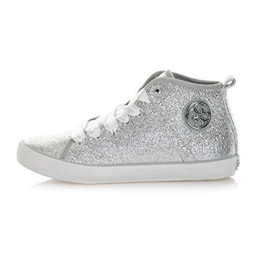 Guess  Floel1lel12silver, Chaussures de Gymnastique femme Argent