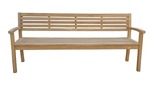 Gartenbank Teak Modern XL 200 cm Gartenmöbel Holzbank Sitzbank Parkbank