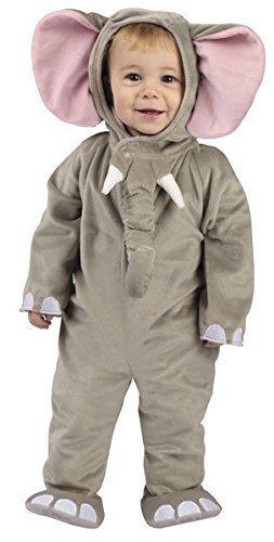 Baby Kleinkind Tier Overall Halloween Büchertag Verkleidung Kostüm Kleidung 6 monate - 2 jahre - Elefant, 6-12 (Kostüm Halloween Baby Elefant)