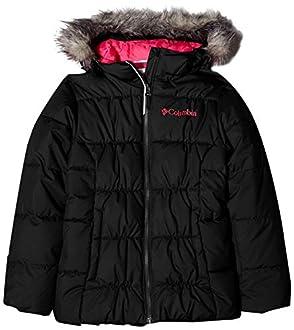 Columbia Fille Veste Déperlante, Gyroslope Jacket, Nylon, Noir (Black/Cactus Pink), Taille M, 1624561
