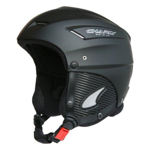 Charly Loop, Gleitschirm- und Skihelm mit Helmschutzbeutel, aufrüstbar mit Visier, matt schwarz, Größe L