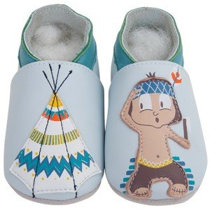 Blau Monate Krabbelschuhe Lauflernschuhe Leder Motiv 0 Indianer Miel Blue 6 Mit Lait Babyschuhe Eichhörnchen Et IqwOICz