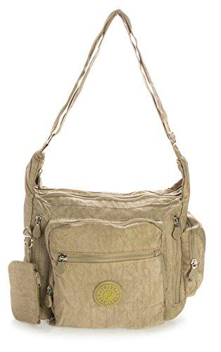 Big Handbag Shop, Borsa a tracolla donna One Beige (beige)